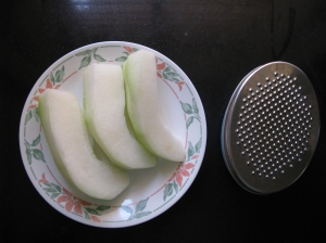 Ash Gourd peeled and deseeded